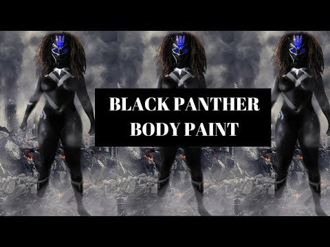 Bts Black Panther Body Painting Cosplay