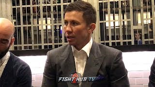 GENNADY GOLOVKIN ON DANIEL JACOBS SAYING HE BEAT HIM & HAVING A FAIR SHOT IN THE CANELO FIGHT