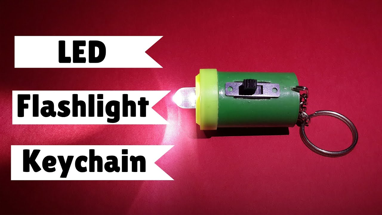 How to Make Super Bright LED Flashlight Keychain