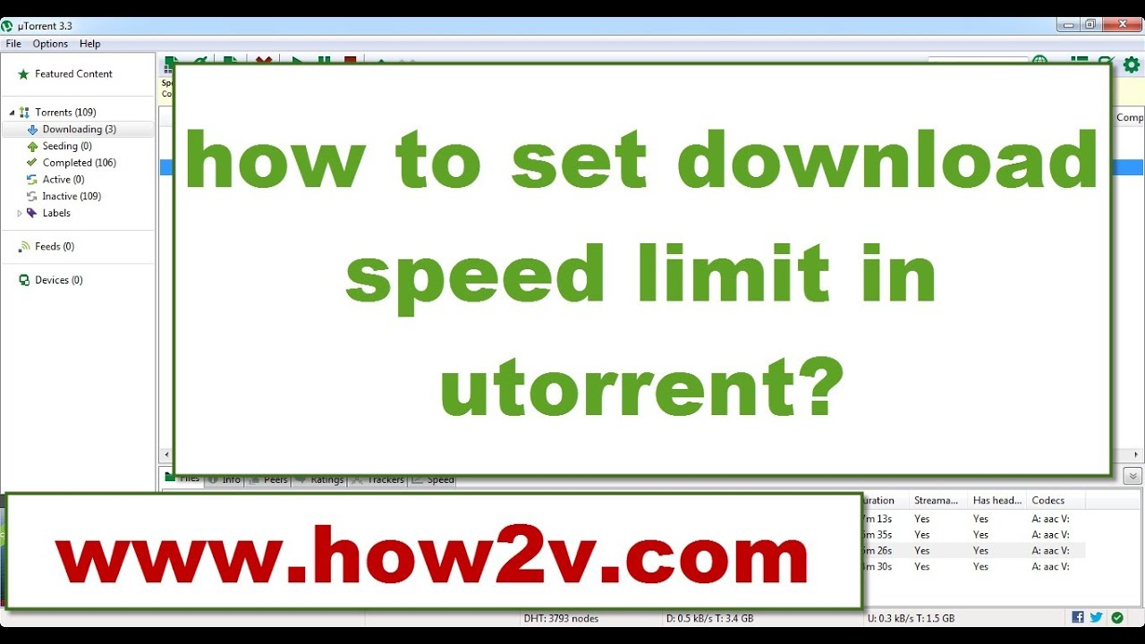 How to set download speed limit in utorrent 2014 youtube
