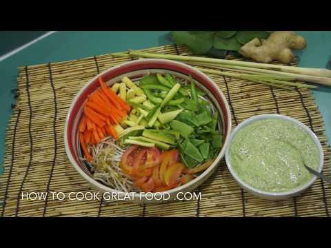 Raw Diet Recipe - Thai Salad Amazing Dressing Vegan Easy Healthy