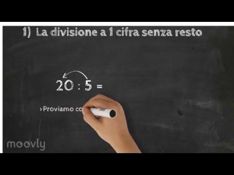 1) La divisione a una cifra senza resto - Maestra Nevi