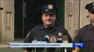 Missing 4-year-old boy found on subway