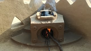 Mud Stove Construction | How to make a clay stove | Matti ka Chulha | Primitive Technology Stove