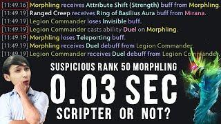 SUSPICIOUS RANK 50 MORPHLING | SCRIPTER OR NOT? (SingSing Dota 2 Highlights #1463)