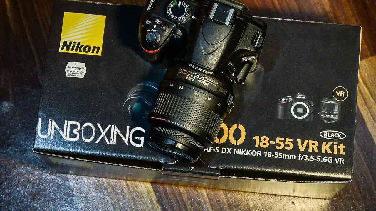 Распаковка Nikon D3200 18-55mm VR Kit - YouTube