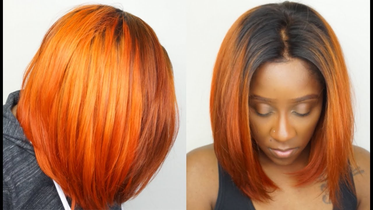 How To Get Orange Hair Easily Dye Black Hair To Orange Step By