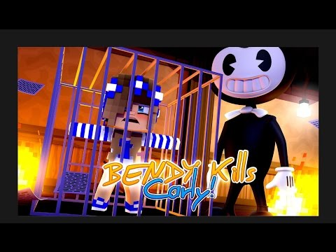 BENDY THE INK MACHINE TRICKS LITTLE CARLY!! (Minecraft Custom Roleplay)