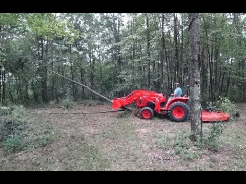 #54 Land Clearing With Kubota L Series Tractor