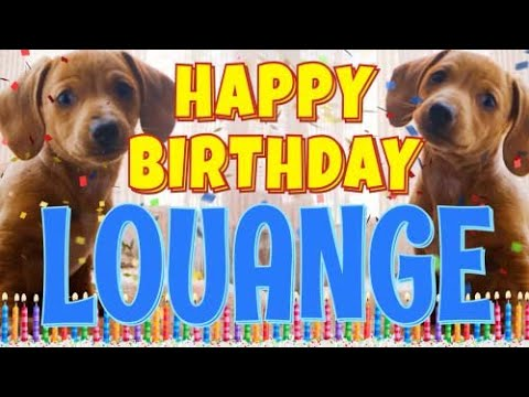 Happy Birthday Louange Funny Talking Dogs What Is Free On My Birthday Youtube