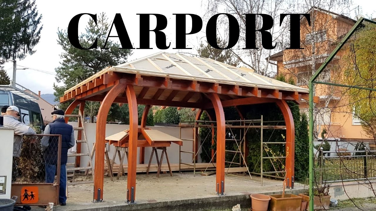 Making And Assembly Of Curved Post Carport