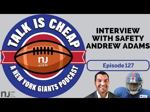 Interview with Giants safety Andrew Adams