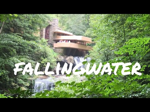 FALLINGWATER - TOUR of FRANK LLOYD WRIGHT'S ACHITECTURE - vlog