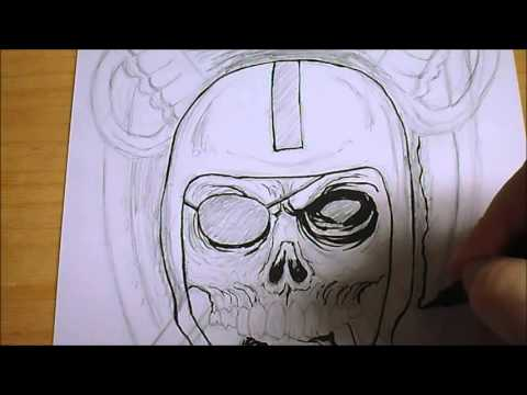 Drawing Raiders Skull And Look Mechanical Pencils