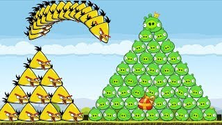 Angry Birds - GOLDEN EGG CHUCK HIT 100 PIGGIES MOUNTAIN! What's New...