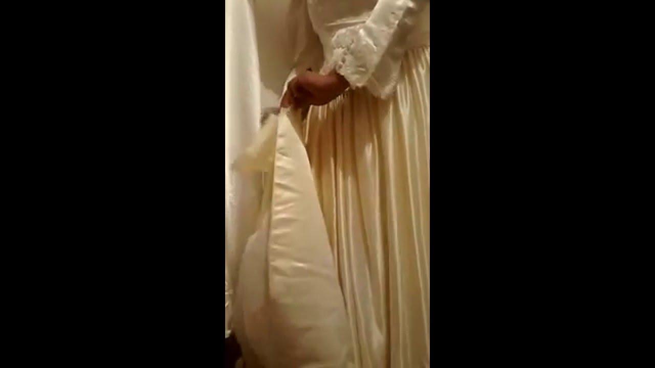 Ripping Wedding Dress Satin Vintage Youtube