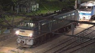 2017/07/11 [JR貨物] [新鶴見機関区] EF66-30号機 出区点検~[1085レ]  鹿島田跨線橋より撮影。