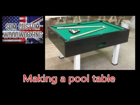 How I Make A Pool Table (diy)   YouTube