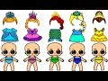 Lol paper dolls glittering painting- They dress up like 6 Disney Princesses- Handmade game