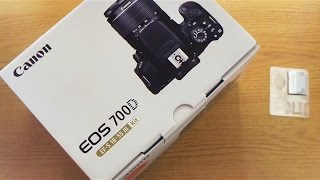 Canon 700D (Rebel T5i) - Unboxing!