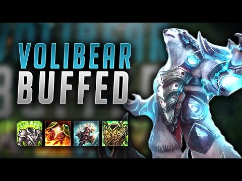 NEW VOLIBEAR BUFFS MAKES HIM UNKILLABLE! HARD CARRY WITH THE BEAR - League Of Legends Gameplay