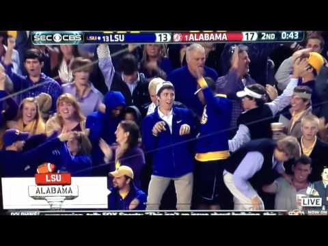 Let's take a second to remember an important moment in the LSU-Alabama rivalry... LSU T-Rex Guy