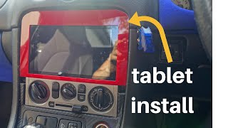 How to install android tablet as car stereo! - mx5