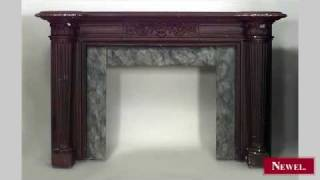Antique English Georgian Style Painted Fireplace Mantel