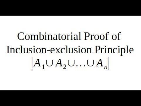 Combinatorial Proof of Exclusion-inclusion Principle