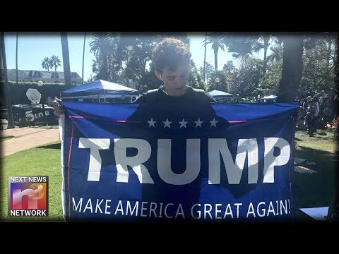 LA Times Reporter Surrounded By Students with Trump Flag, Tell Her The TRUTH About Her Paper