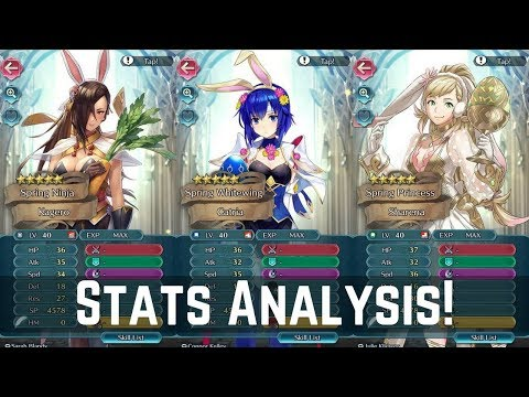 Stats Analysis of Hares at the Fair Heroes! Catria, Kagero & More! | FEH News 【Fire Emblem Heroes】