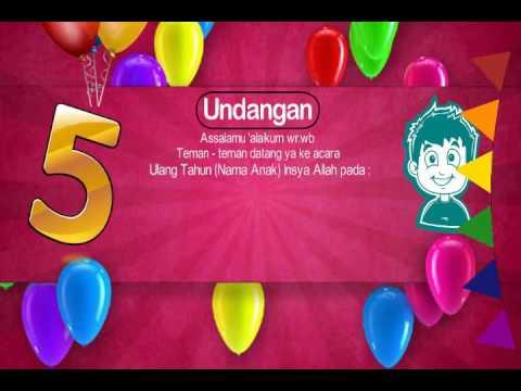 Contoh Undangan Ulang Tahun Online Via Whatsapp Facebook Instagram