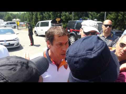 Rudi Garcia discute con i tifosi - Riscone di Brunico 13/07/2013