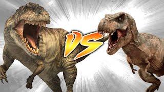 GIGANOTOSAURUS VS T. REX