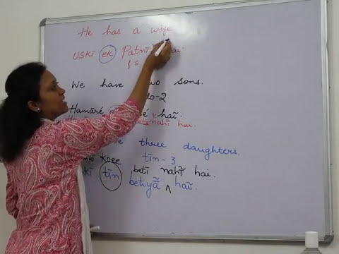 Hindi Lessons: Verb -To have