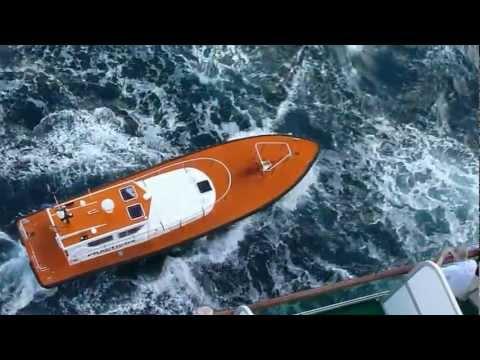 Pilot Boat in Rough Seas at Cartagena