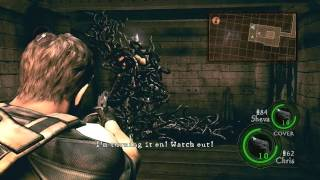 04. Resident Evil 5 Walkthrough - Professional Difficulty - Chapter 1-2 Uroboros Boss