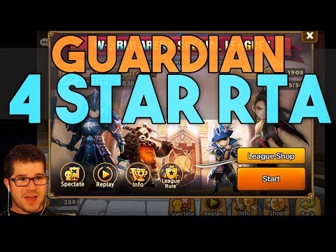 Guardian 4 star RTA Matches in SUMMONERS WAR WORLD ARENA