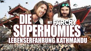 Die Superhomies in Nepal - Lebenserfahrung Kathmandu (mit Gronkh & Sarazar für Far Cry 4)