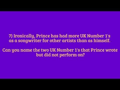The Ultimate Prince Quiz - Part 3 The Difficult Questions
