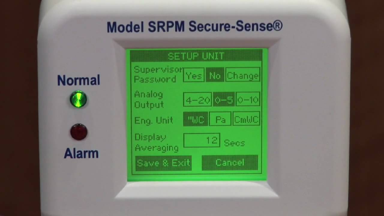 Setra Systems Srpm Room Pressure Monitor Demo Youtube