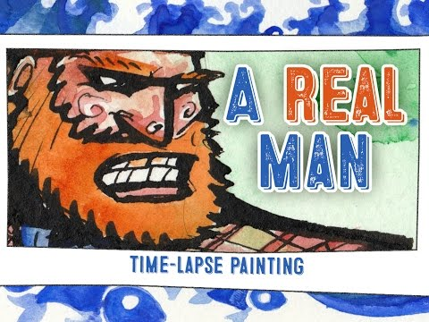 PAINTING MANLY MANLINESS IN NATURE! – timelapse