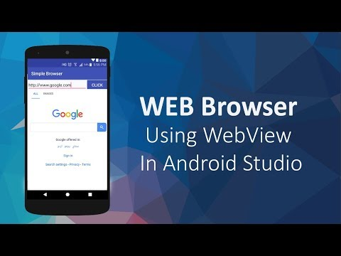 Simple Web Browser Using WebView In Android Studio