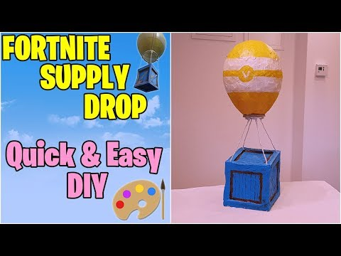 Fortnite Supply Drop DIY On A Budget | MartinaMade