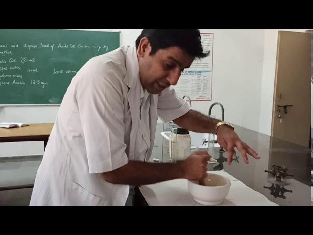 Emulsion by Dry Gum method