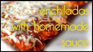 Best Enchiladas! Homemade Sauce + Crock Pot Salsa Chicken