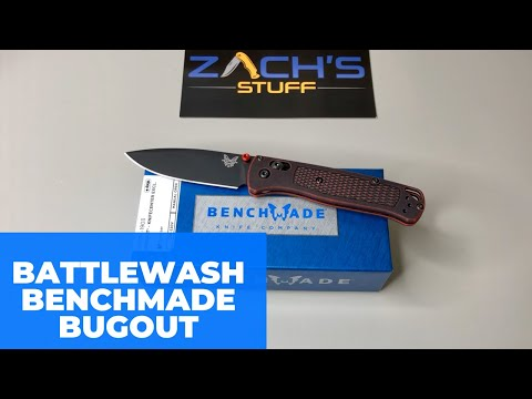Battlewash Red Bugout -Benchmade Knife Center Exclusive