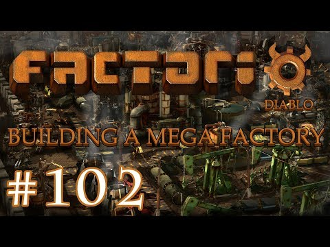 Factorio - Building a Mega Factory: Part 102 the right side main bus trainstation.