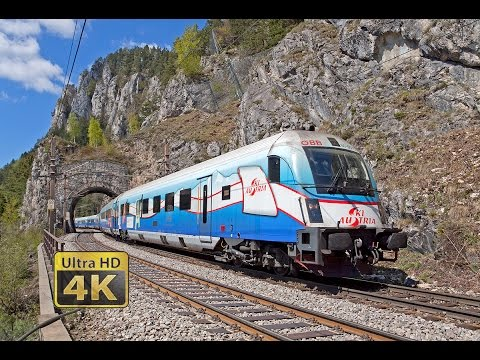 SEMMERINGBAHN - 40 minutes 4K [Ultra HD] video of trains and scenery railway