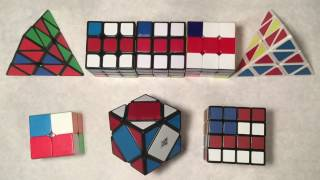 american flag pattern on 1x1 4x4 pyraminx and skewb read description